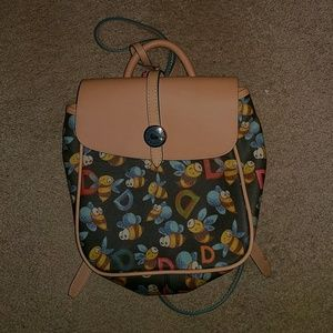 Dooney & Bourke Black Bumblebee Mini Backpack